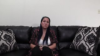 Chubby brunette Theodora doggy fucked inclination over the desk at get rid of maroon