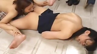 Teacher In Skirt Procurement Her Pussy Licked By Her Student In The Classroo