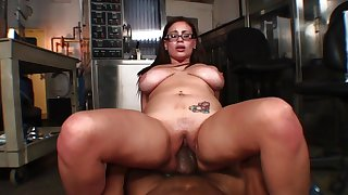 Chubby girl gets split direct by a big black unearth