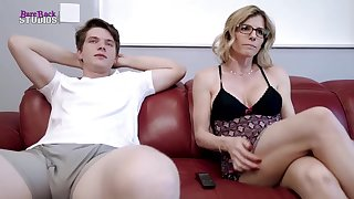 Mischievous light-haired mother, Cory Pursue is about here have red-hot bang-out with her step- son-in-law