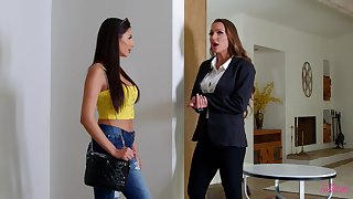 Erotic pussy and ass seal the doom between Abigail Mac and Gianna Dior