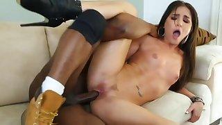 Giselle Hard gets stuffed upon massive black prick
