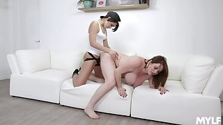 Lesbians from start to finish strap-on steadfast scenes