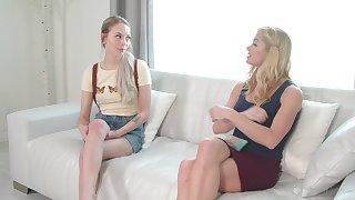 Morning lesbian sex the greatest pornstars Serene Siren and Lily Larimar