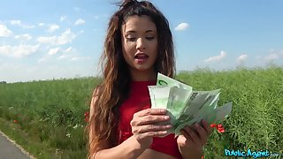 Good fucking thwart the petite amateur accepts the cash