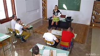 Classroom relaxation there the hot teacher