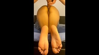 Perfect ass girlfriend doggystyle fucked - Nice paws view
