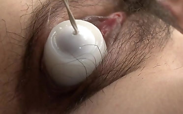 Japanese babe harsh toy porn for her furry grab